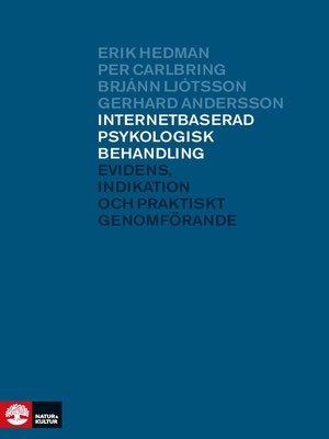 cover image of Internetbaserad psykologisk behandling