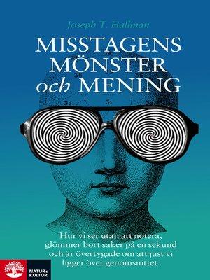 cover image of Misstagens mönster och mening