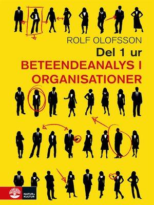 cover image of Del 1 ur Beteendeanalys i organisationer