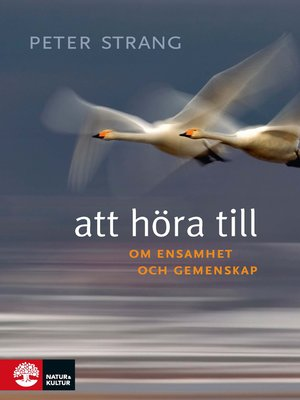 cover image of Att höra till
