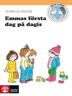 cover image of Emmas första dag på dagis