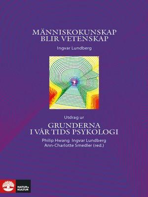 cover image of Människokunskap blir vetenskap