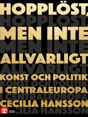 cover image of Hopplöst men inte allvarligt