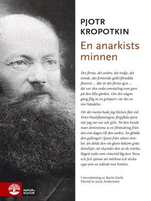 cover image of En anarkists minnen