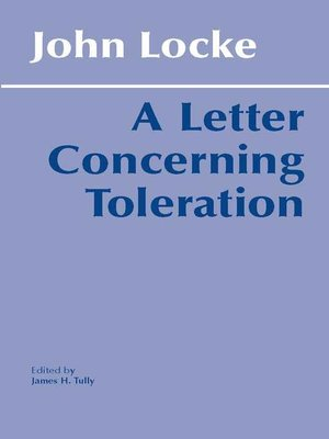 cover image of A Letter Concerning Toleration