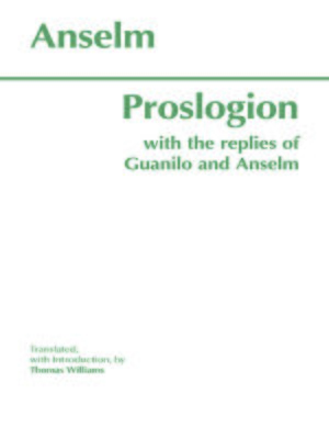 cover image of Proslogion