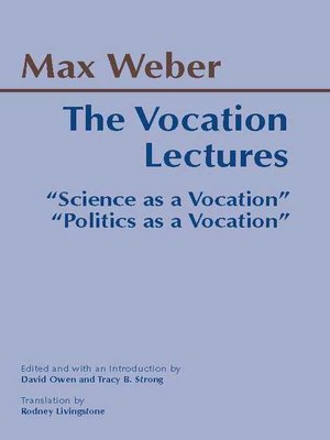 cover image of The Vocation Lectures