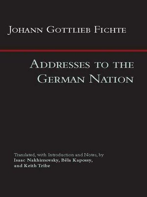 cover image of Addresses to the German Nation