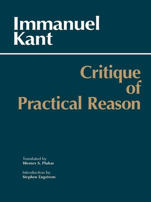 cover image of Critique of Practical Reason