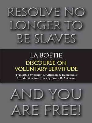 cover image of Discourse on Voluntary Servitude