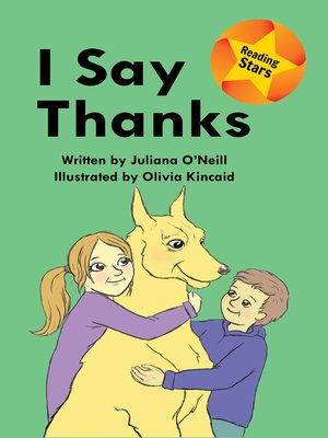 cover image of I Say Thanks