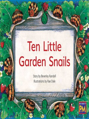 cover image of Ten Little Garden Snails