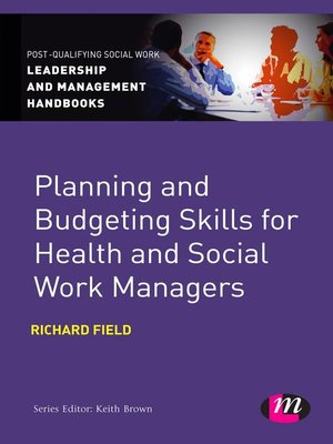 cover image of Planning and Budgeting Skills for Health and Social Work Managers