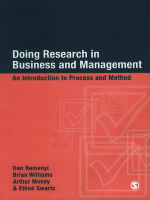 cover image of Doing Research in Business and Management