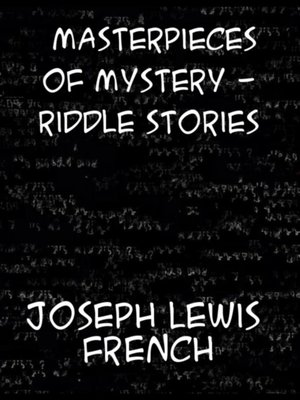 cover image of Masterpieces of Mystery Riddle Stories