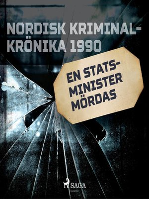 cover image of En statsminister mördas