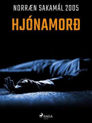 cover image of Hjónamorð