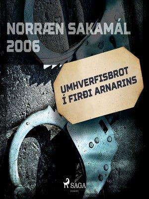 cover image of Umhverfisbrot í firði arnarins
