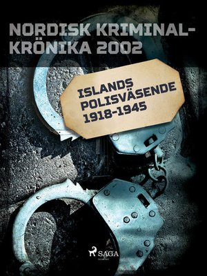 cover image of Islands polisväsende 1918-1945