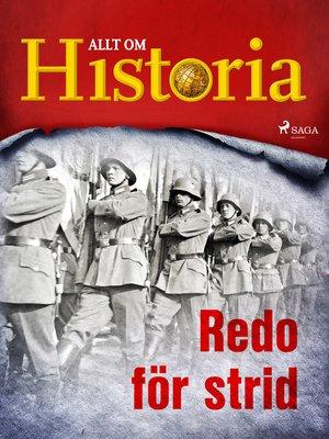 cover image of Redo för strid