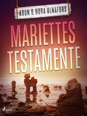 cover image of Mariettes testamente