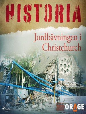 cover image of Jordbävningen i Christchurch