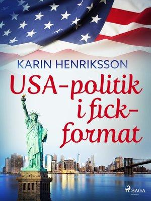 cover image of USA-politik i fickformat