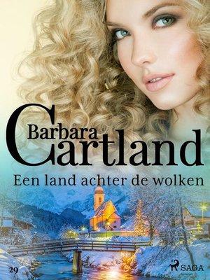 cover image of Een land achter de wolken