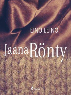 cover image of Jaana Rönty