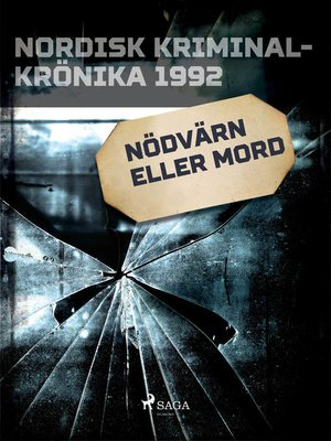 cover image of Nödvärn eller mord