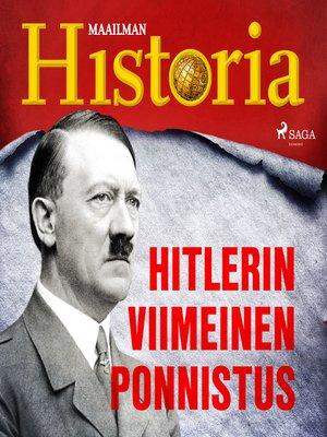 cover image of Hitlerin viimeinen ponnistus