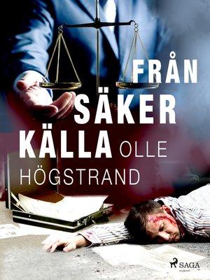 cover image of Från säker källa