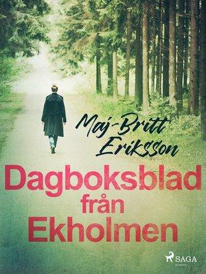 cover image of Dagboksblad från Ekholmen