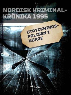 cover image of Utryckningspolisen i Norge