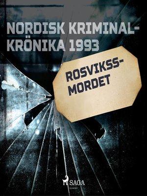 cover image of Rosvikssmordet