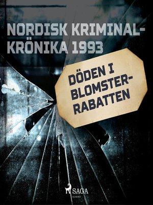 cover image of Döden i blomsterrabatten
