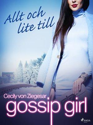 cover image of Allt och lite till