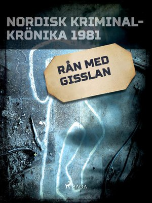 cover image of Rån med gisslan