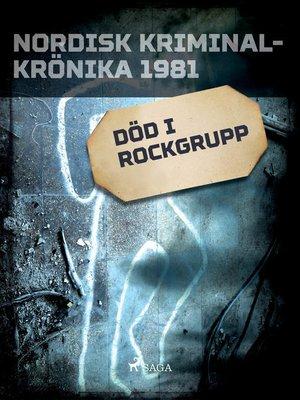 cover image of Död i rockgrupp