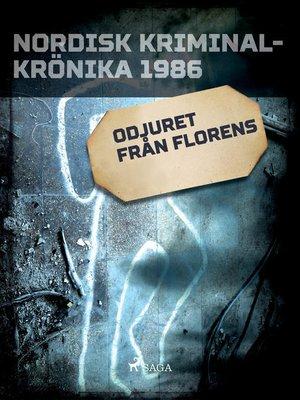 cover image of Odjuret från Florens
