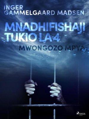 cover image of Mnadhifishaji Tukio la 4
