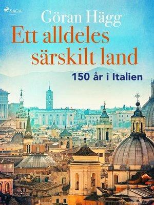 cover image of Ett alldeles särskilt land