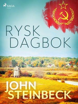 cover image of Rysk dagbok