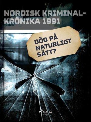 cover image of Död på naturligt sätt?