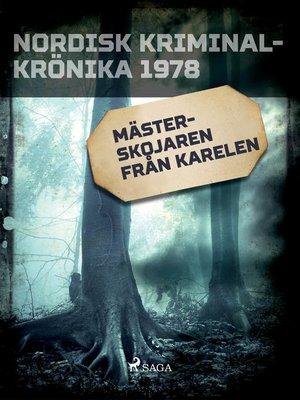 cover image of Mästerskojaren från Karelen