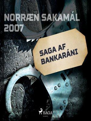 cover image of Saga af bankaráni