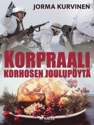 cover image of Korpraali Korhosen joulupöytä