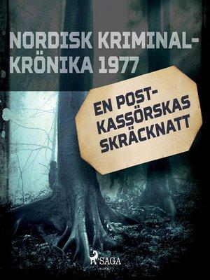 cover image of En postkassörskas skräcknatt
