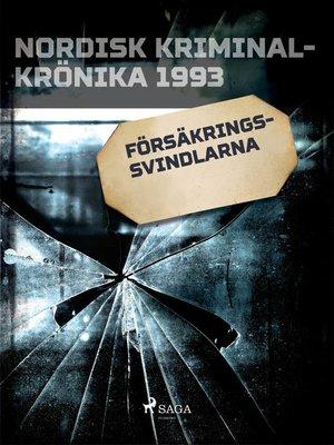 cover image of Försäkringssvindlarna