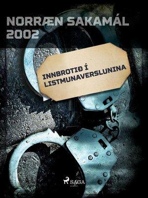 cover image of Innbrotið í Listmunaverslunina